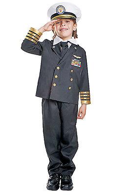 Kids Navy Admiral Black Costume By Dress up - Kids Navy Kostüme