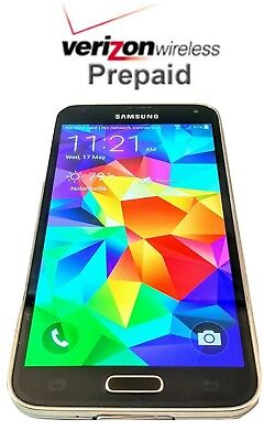 Unlocked Verizon Prepaid Samsung Galaxy  S5 16GB 4G LTE - No contract with SIM