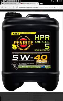 Penrite HPR diesel 5 5w 40 10 litre x 5