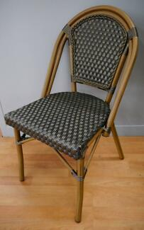 New Cafe Bistro Rattan Paris Dining Chairs Outdoor Furniture