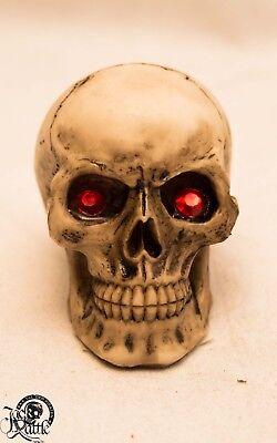 6er Set Mini Schädel rote Edelsteine Totenkopf Pirat skull 2240