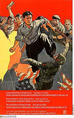 Political Cuban Poster North Korea Kick Army Soldier 22 Revolution Art Design