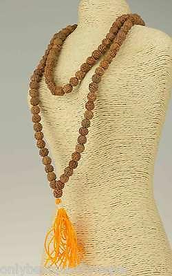Mala Rudraksha Rosary Rosario Necklace Buddhism 18d