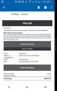 Ed sheeran concert tickets Applecross Melville Area Preview