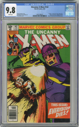 1981 Uncanny X-Men 142 CGC 9.8 Newstand White Pages