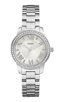 Designer Guess Ladies Watch RRP £189 'Allure' Silver UK Warranty  W0444L1 SALE