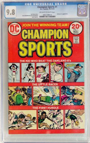 Champion Sports #1 (Oct-Nov 1973, DC) CGC 9.8 NM/MT Joe Simon story Oakland A
