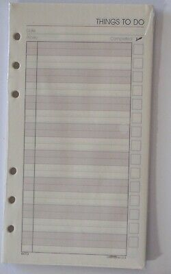 Planner Refill Paper 4 or 6 Ring Planner 3 3/4in x 6 3/4in