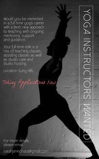 Full Time and Part Time Yoga Teachers Needed for a New Studio Surry Hills Inner Sydney Preview