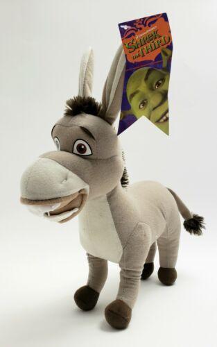 """Shrek the Third Donkey Plush by Kellytoy Stuffed Animal 12"""" 2007"""