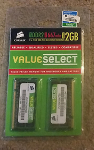Corsair Valueselect Notebook Memory 2 x 1GB Hornsby Hornsby Area Preview