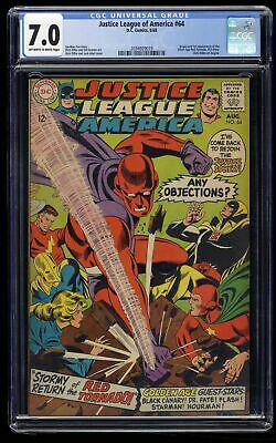 Justice League of America #64 CGC FN/VF 7.0 Off White to White