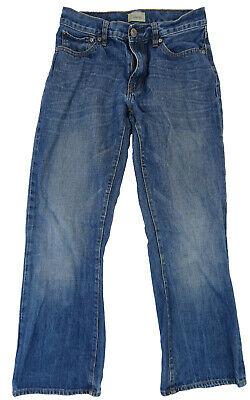 MENS BLUE STONEWASHED FADED BOOT FIT JEANS by GAP (W29 L30)