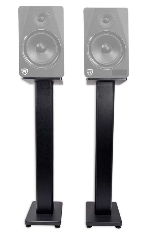 "2) Rockville RHTSB 36"" Inch Bookshelf Speaker Stands Surround Sound Home Theater"