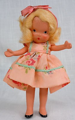 Margie Ann in Party Dress Nancy Ann Storybook Doll Jointed Leg Pudgy Tummy #81