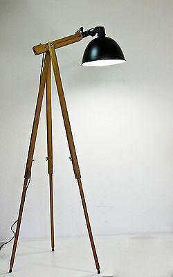 Scheinwerfer Stehlampe Tripod Lampe Retro Design Stehleuchte im Stil 70-er