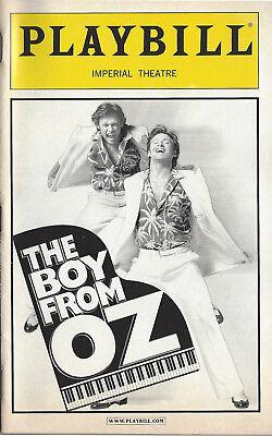 2004 Playbill The Boy From OZ Hugh Jackman Actor's Fund Performance + ticket