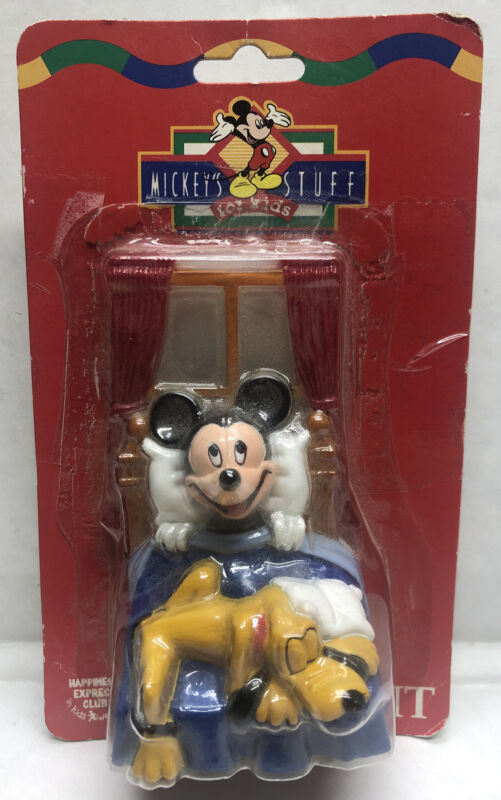 Vintage Happiness Express Mickey's Stuff For Kids Nite Light Mickey & Pluto NEW