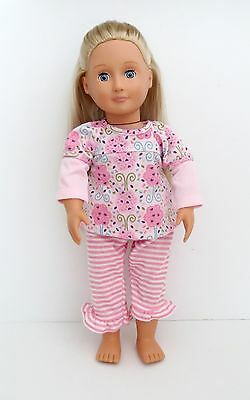 """Our Generation By Battat 18"""" Doll Blonde With Blue Sleepy Eyes"""