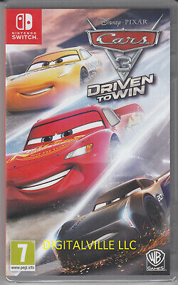 Cars 3 Driven to Win Nintendo Switch Brand New Factory Sealed Disney Pixar