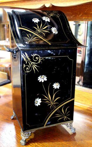 Victorian Tole Painted Coal Scuttle