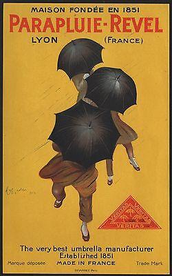 Kleinplakat für Schirme - Parapluie-Revel - umbrella poster ~1925 # 2021