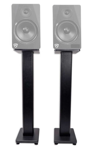 "Rockville RHT28 2 28"" Inch Bookshelf Speaker Stands Surround"