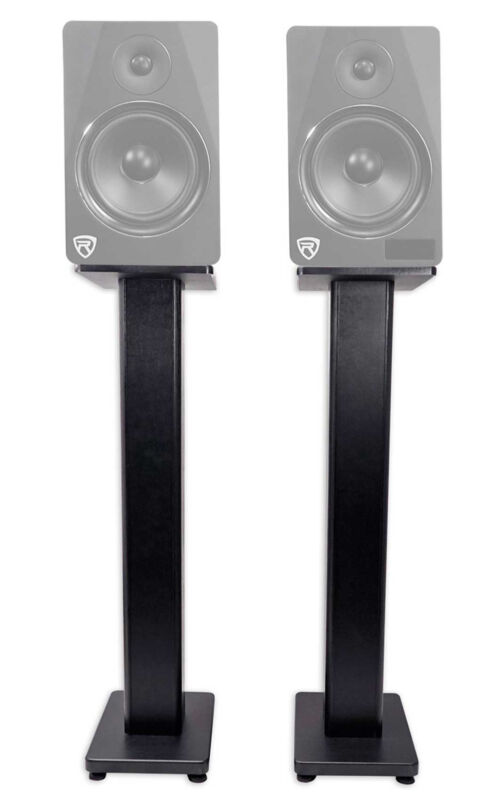 "2) Rockville RHT28 28"" Inch Bookshelf Speaker Stands Surround Sound Home Theater"