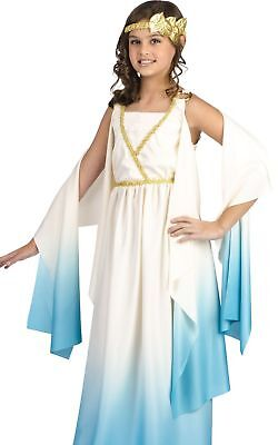 Greek Goddess Toga Costume Dress Child Girls Teen Roman - M 8-10, L 12-14
