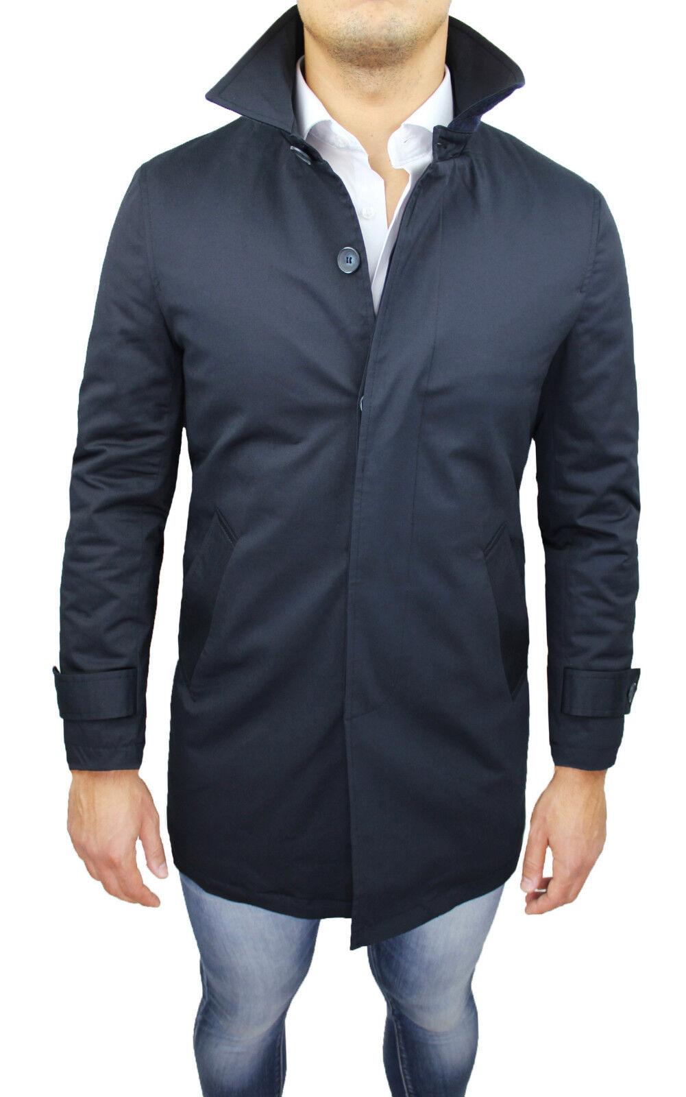 9b00f74b50b3e Abbigliamento e accessori GIACCONE PARKA UOMO DIAMOND CASUAL BLU GIUBBOTTO  SLIM FIT INVERNALE IMPERMEABILE Cappotti e giacche