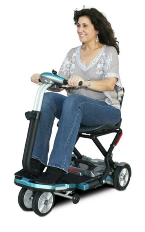 Ev Rider Transport Sla Folding Scooter Compact Lightweight Travel Medical Small