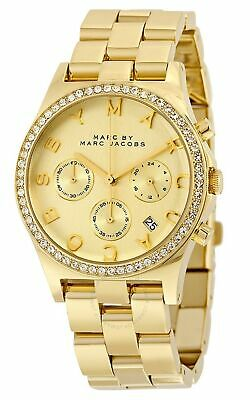 Marc Jacobs Henry Chronograph Crystals Gold Dial Women's Watch MBM3105 SD9