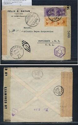 Egypt  double censor cover to  US   1944