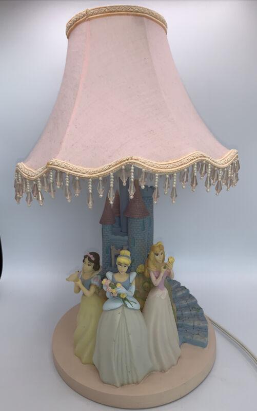 DISNEY HAMPTON BAY PRINCESS LAMP AND NITE LIGHT WITH ORIGINAL SHADE.