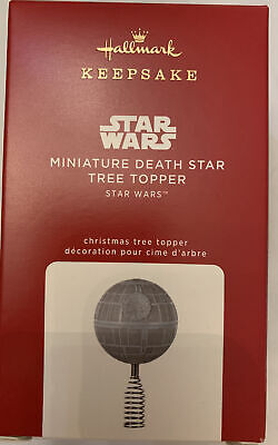 2020 Hallmark Miniature Death Star Tree Topper Star Wars Keepsake Ornament New