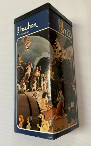 BLACHON puzzle IN VINO VERITAS heye 1000 complete Germany 1979 mordillo ryba