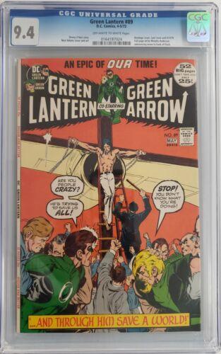Green Lantern #89 CGC 9.4 Neal Adams Art 1972