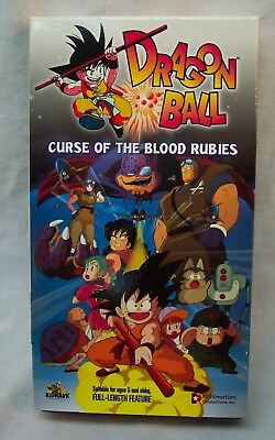 DRAGON BALL Curse of the Blood Rubies VHS VIDEO