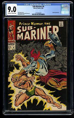 Sub-Mariner #4 CGC VF/NM 9.0 Off White to White Marvel Comics