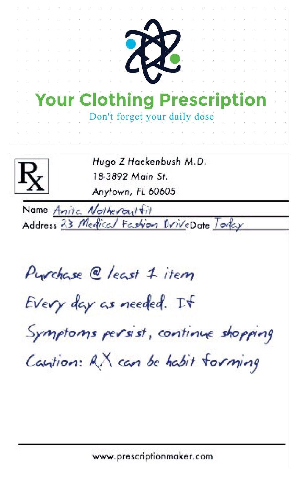 Your Clothing Prescription