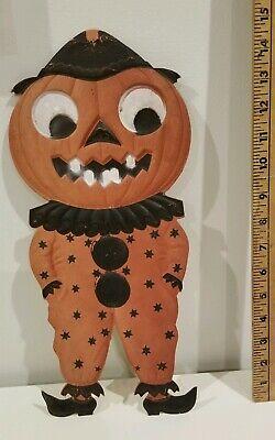 Large Antique Vintage Jack O Lantern Pumpkin Die Cut GERMANY