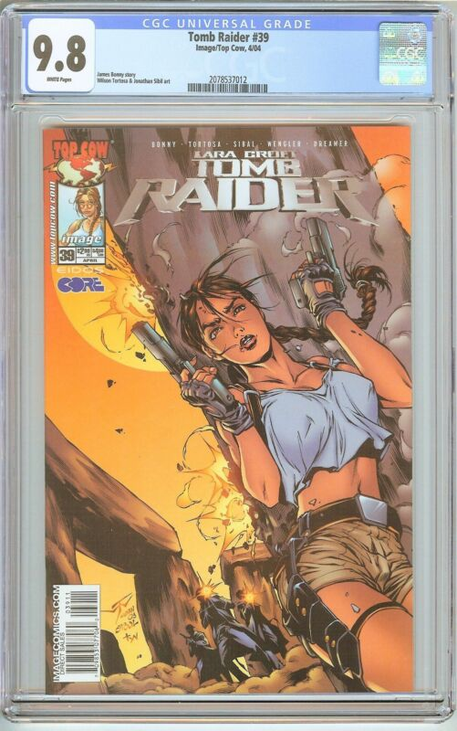 Tomb Raider #39 CGC 9.8 White Pages 2078537012