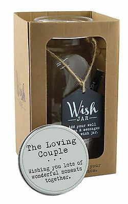 Splosh The Loving Couple Wish Jar Gift Idea Jars Hold Special Wishes Inside - Jar Gift Ideas