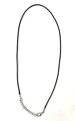 Black Leather Wax Rope Cord Necklace Chain ()