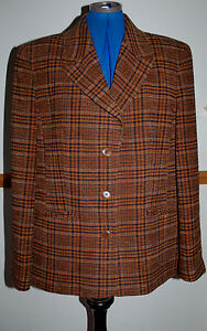 New Sz 42 Red//Green Chenelle Tweed Check Ridding Jacket CosPlay Doctor Who