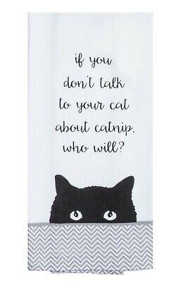 Kay Dee Designs CAT'S and CATNIP Cotton Kitchen Tea Towel
