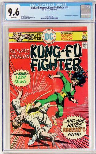 Richard Dragon, Kung-Fu Fighter #5 1975 DC CGC 9.6 NM+ 1st appearance Lady Shiva