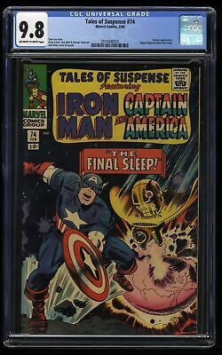 Tales of Suspense #74 CGC NM/M 9.8 Off White to White Iron Man Captain America!