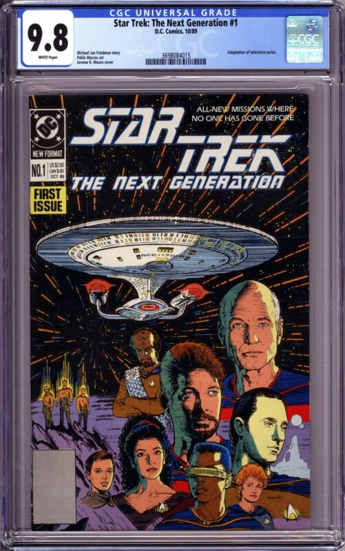 STAR TREK: THE NEXT GENERATION #1 (1989 DC Comics) CGC 9.8 NM/M