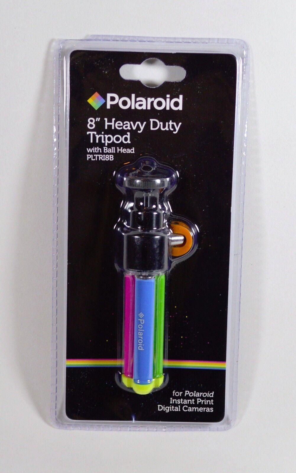 "Polaroid 8"" Color Heavy Duty Mini Tripod With Pan Head With"